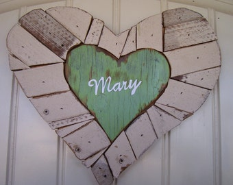 Wooden Heart Wall Hanging for Children's Room