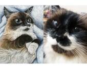 Custom Pet Painting, 8x10 Pet Portrait, Acrylic Painting on Canvas, Cat Art, Dog Picture, Animal Artwork, Rabbit Painting