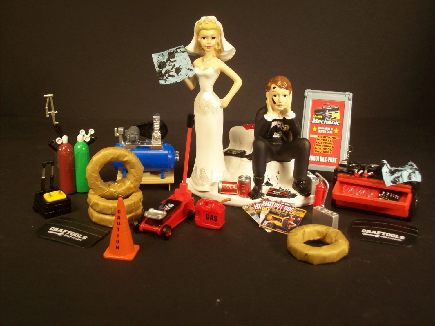 Funny Wedding Cake Topper for Mechanics AUTO MECHANIC Awesome