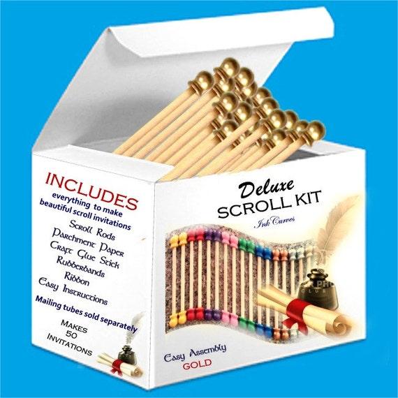 Complete Wedding Invitation Kits: Scroll Invitation 50Pc Kit Perfect For Invitation Designers