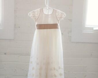 Adele Long Lace Dress