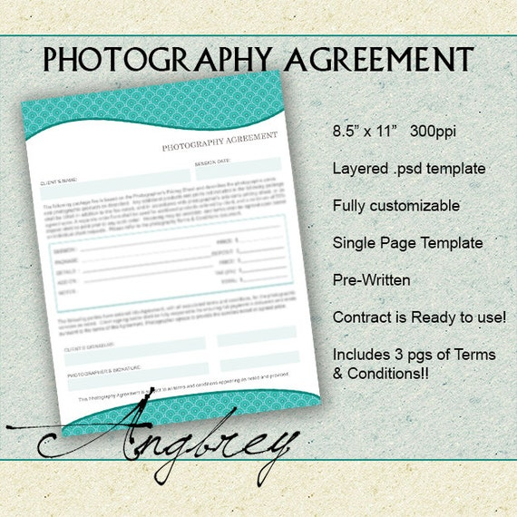 contract form for photographers photography agreement terms. Black Bedroom Furniture Sets. Home Design Ideas