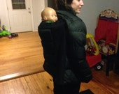 Babywearing coat for back carries
