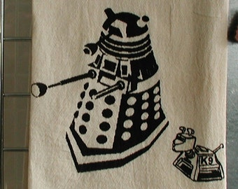 Dr Who Kitchen Towel The Dalek and K-9