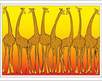 Print – Giraffes