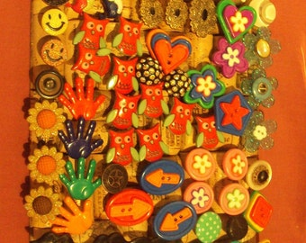 Button Pushpins set of 4. Office Decor, Teens room, memo bulletin board