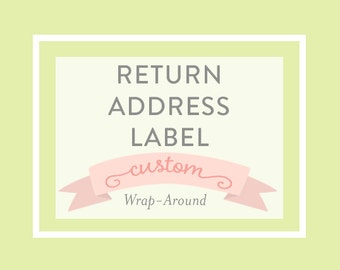 RETURN ADDRESS LABEL, Wrap Around - Printable