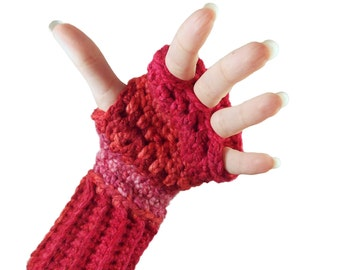Fingerless Gloves with individual finger holes