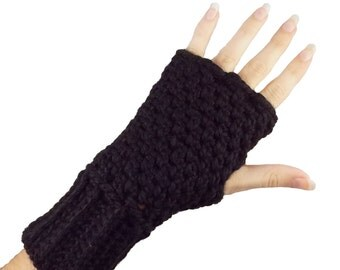 Black Fingerless Gloves with individual finger holes