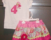 Strawberry Shortcake #4...Girls Top and Skirt sizes 0-6, 6-12, 12-18, 18-24 months, 2T, 3T..Bigger sizes AVAILABLE