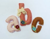 """Lower Case Letters PDF Pattern for 3-4"""" with Bows-Instant Download Pattern"""