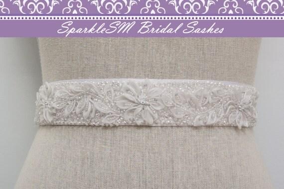 Bridal Sash, Wedding Sash, Bridal Belt, Crystal Sash, Rhinestone Sash, Jeweled Belt, Bridal Belt, Wedding Gown Belt Bridal Belt -  Whitney