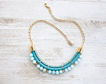 Meteorites colors PrettyLover Statement  Jade Necklace by Pardes