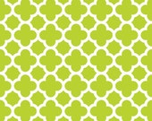 Fat Quarters ONLY - Lime Quatrefoil From Riley Blake
