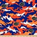 University of Florida Gators Camouflage Fabric