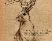 Jackalope Open edition ACEO/ ATC print