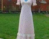long flower dress size 4-5 union label