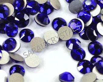 10 pcs Swarovski Crystal Flatbacks Cobalt 30ss SS30 (6.32-6.5mm) 2028 Xilion