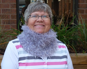 Knitted Luxury Cowl That Feels Like Fur