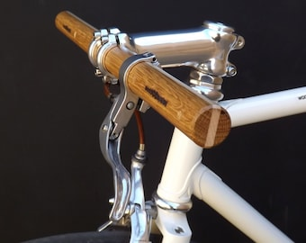 oak and ash wood straight bicycle handlebar