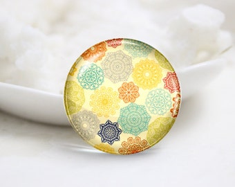10mm 12mm 14mm 16mm 18mm 20mm 25mm 30mm Handmade  Photo Glass Cabochons Cover-Floral (P1045)