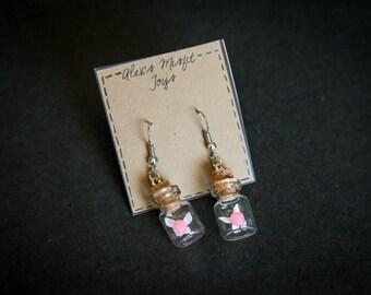 Tiny Fairy in a Bottle Earrings