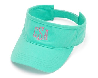 Monogrammed Visor - Perfect for Summer - Custom Monogram Visor