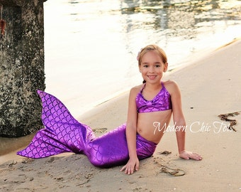 SALE Swimmable Mermaid Tail, Purple