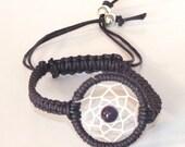 Native American Inspired Amethyst Dreamcatcher Bracelet, Purple Bracelet