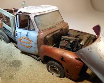 Scale Model Ford Pickup Truck Diaroma Scene by Classicwrecks