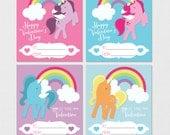 Unicorn Valentines, Unicorn Rainbow Valentines, Pony Valentines, Kids Valentines, Printable Valentines, Kids Unicorn Valentines, PRINTABLE