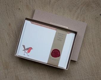 Robin Letterpress Correspondence Cards