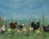 Felt Making Kit to make chicken picture with online tutorial