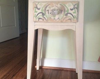 Small painted wood end table