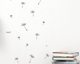 Falling Dandelions Removable Wall Sticker | Little Sticker Boy