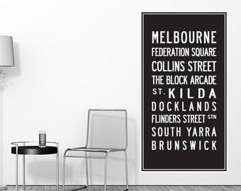 Melbourne Scroll Removable Wall Decal
