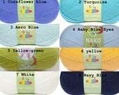 soft baby yarn, knitting yarn, classic yarn, acrylic yarn, Each skein: 100 gr (CHOOSE COLOR)