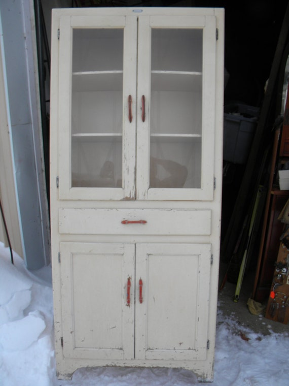 Kitchen cabinet paint colors cream - Vintage Antique 1930s 1940s Kitchen Cabinet Cupboard Pantry Pick Up