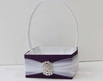 Handmade Flower Girl Basket- (Custom Made to Order)