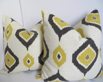 Pillow Covers 16x16, Pillow Covers, Yellow Black Pillow Covers- yellow Pillow Covers- Pillow covers- Accent pillows
