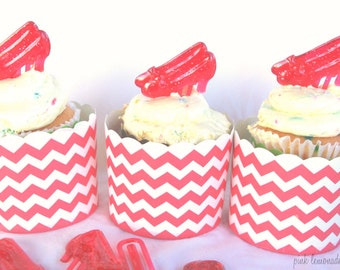 Red Shoes CuPCaKe PiCKs-Parties--12 ct--wizard of oz theme party-dorothy