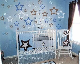 stars  Wall Decals-Nursery Wall Art - Childrens Wall Decal - Kids Vinyl Wall decals