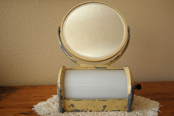 vintage shaving mirror and light vintage bathroom vanity light