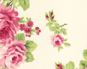 Barefoot Roses by Tanya Whelan White Bouquet 1 Yard