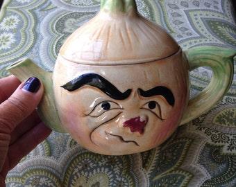 Vintage Anthropomorphic Onion Teapot