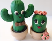 Cacti Wedding Cake Topper - Choose Your Colors