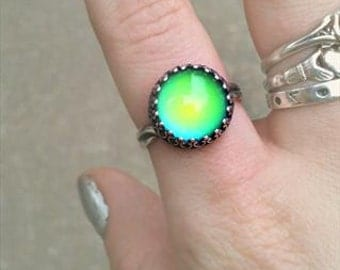 Sterling Silver Seven Deadly Sins Mood Ring