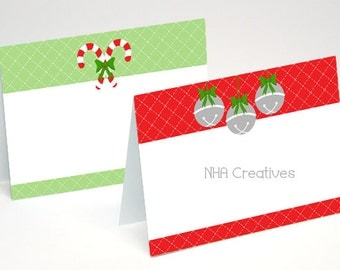 Holiday place cards | Etsy