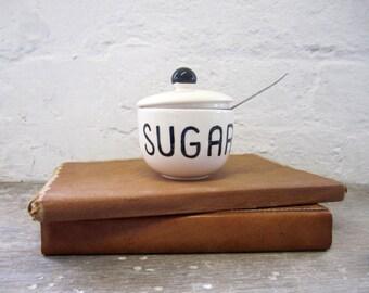 Hand Painted Oh! Sugar Ceramic Sugar Pot