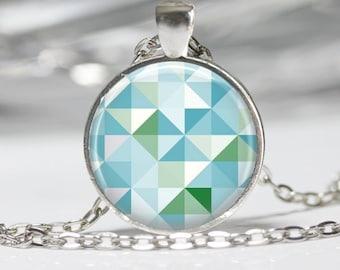 Geometric Jewelry Geometric Necklace Geek Pendant